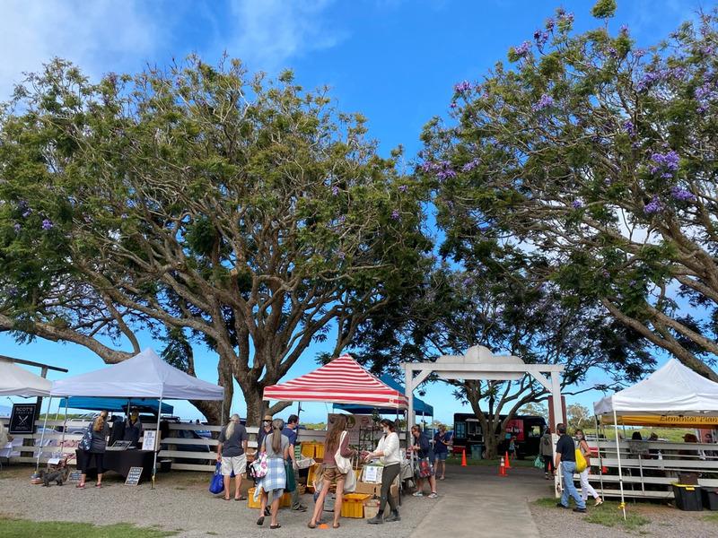 ハワイ島は今。ワイメアのファーマーズマーケットオーブン。